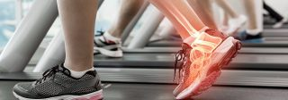 Τρισδιάστατη απεικόνιση αθλητή με πόνους στο άκρο πόδι